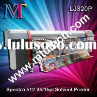 Heavy Duty Spectra Polaris Solvent Printer with PQ512 print head 1440dpi 3.2m large format