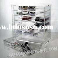 wholesale acrylic cosmetic Makeup organizer with drawer makeup storage box