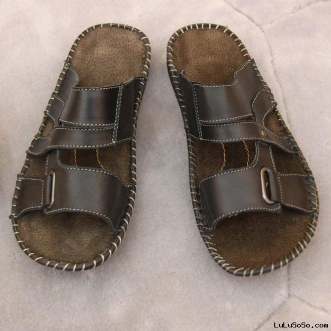 Men leather slippers sandals,mens leather arabic slippers