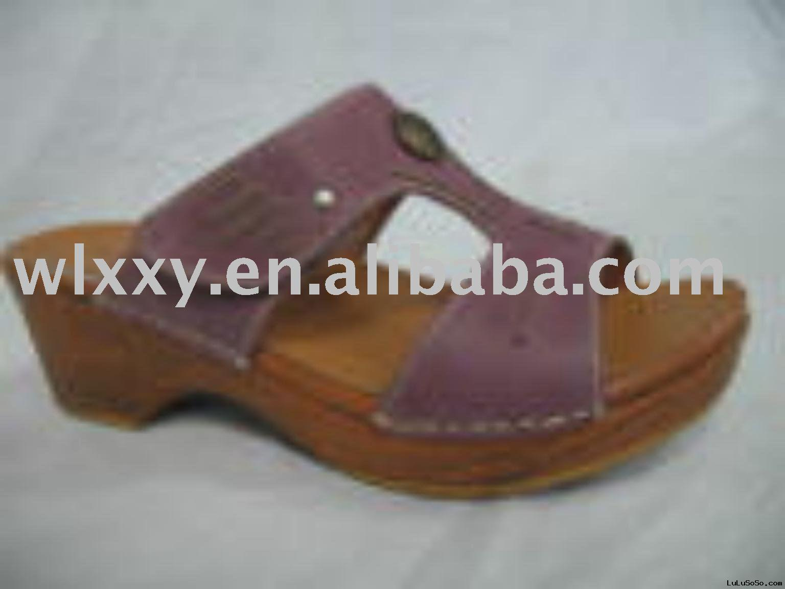 ladies leather sandals slipper