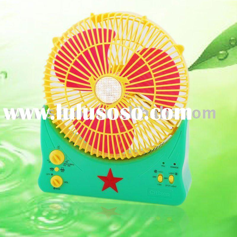 XTC-188C Rechargeable Portable Fan with LED light & spotlight