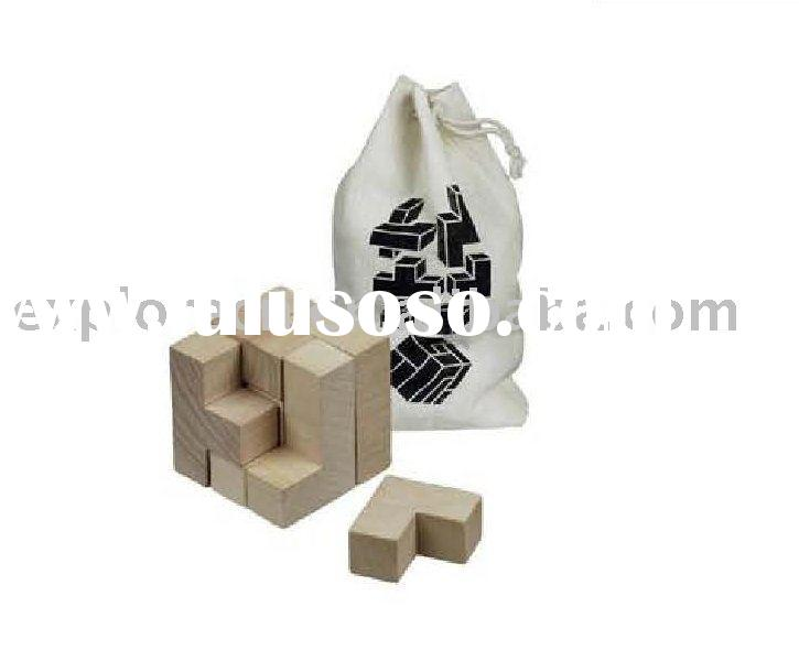 Promo wooden puzzle cube