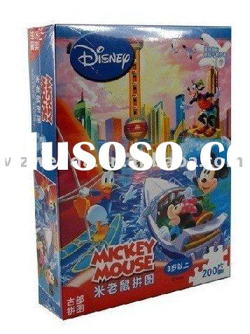 paper cartoon jigsaw puzzle