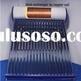 Newly design copper coil solar water heater (hot)