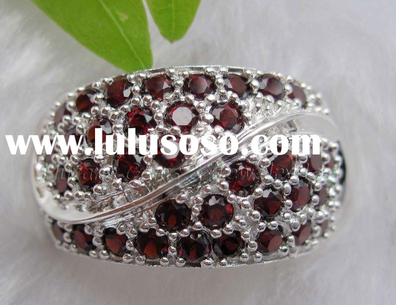 Silver Jewely: 925 sterling silver ring with gemstones SR2486