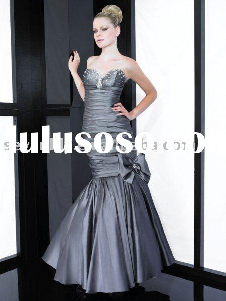 2011 New Stunning Sash Bow Mermaid Style Prom Dresses