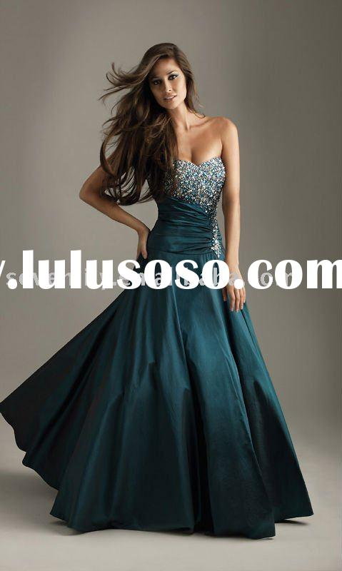 2011 designer ball gown  beautiful Peacock Mermaid  prom dresses