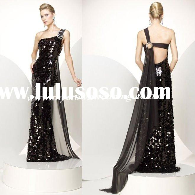 2011 new arrival fashion sequin evening dress prom dress