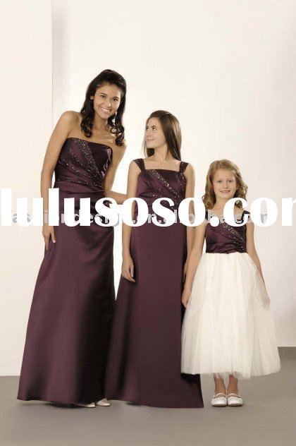 Modest junior bridesmaid dresses,formal prom gowns,evening dresses  BD089