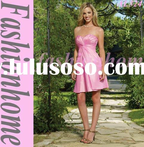 Top quality Strapless hot pink Short Evening dress, Fashion Cocktail dress, Christmas gift AL324
