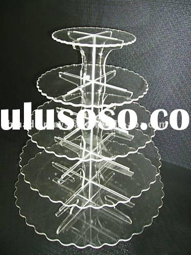 acrylic cupcake stands,wedding cake stands,5 tier cupcake stands