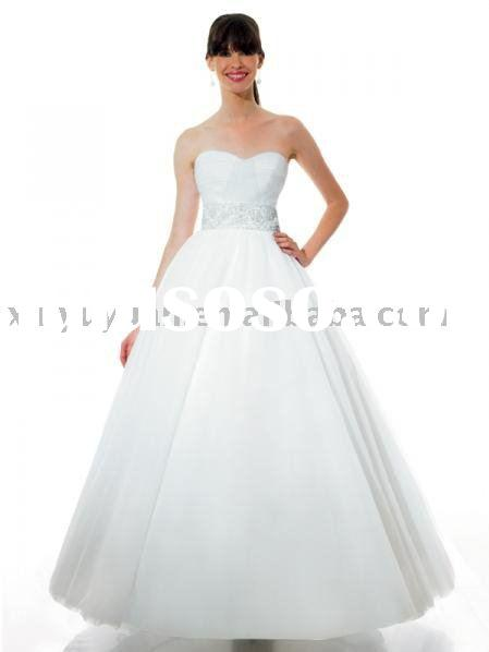 vintage and modest 2011 China ball gown tulle wedding gowns MOW-083