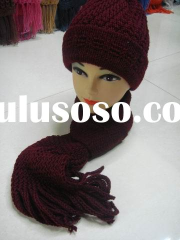knitted hat&scarf set