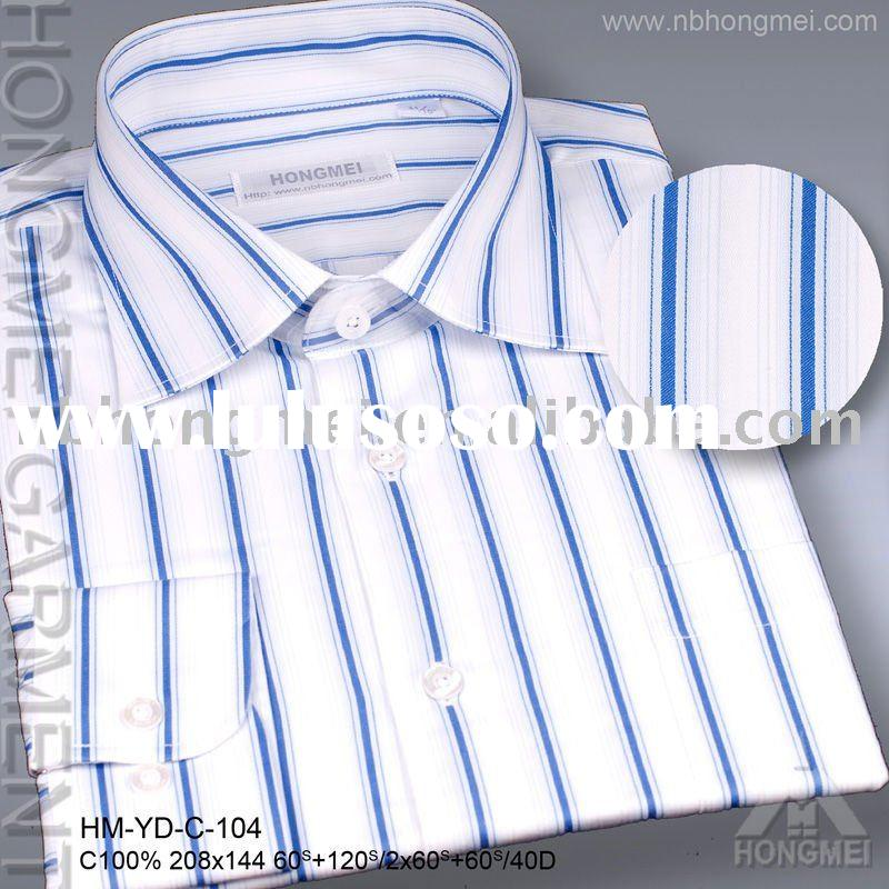 Men's blue stripe dress shirts