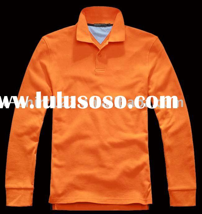 long sleeve fitted  cotton polo shirt