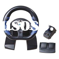 dual format 10 inches video game racing wheel for PS3