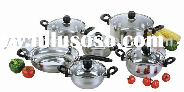 Cookware Set 12 pc YWD-023 (Stainless Steel Cookware Set)
