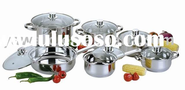 Cookware in 12-Pcs Stainless Steel Cookware Set