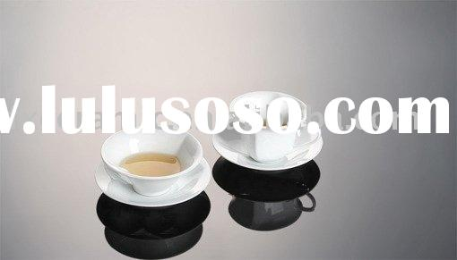 Porcelain coffee cup and saucer in heart shape ( coffee set/tea set)