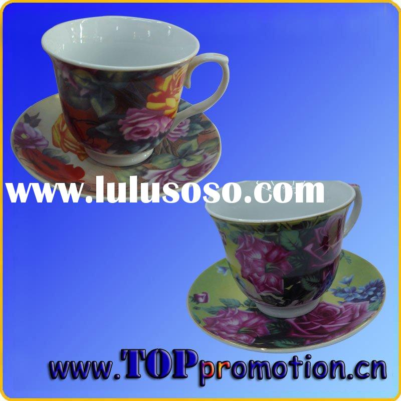 ceramic cup and saucer set 19101052