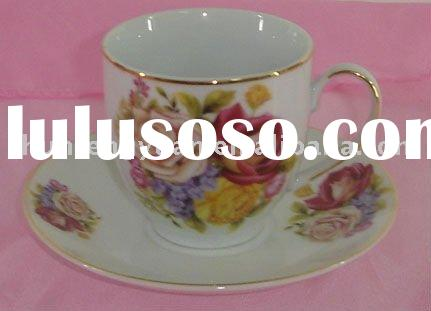 porcelain tea cup and saucer,tea thermal cup