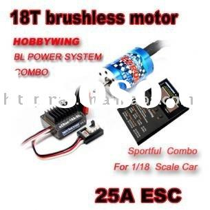 EzRUN 1/18 RC Racing Car Truck 18T brushless motor + 25A ESC