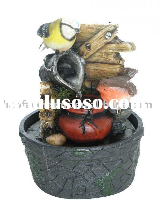 Small bird table water fountain with Battery indoor ornaments