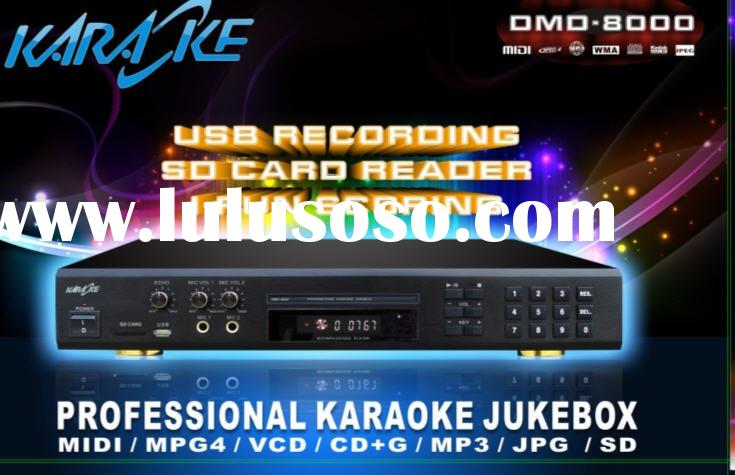 MIDI Karaoke Player,MIDI DVD Karaoke Player Recorder, card reader, Digit Mic