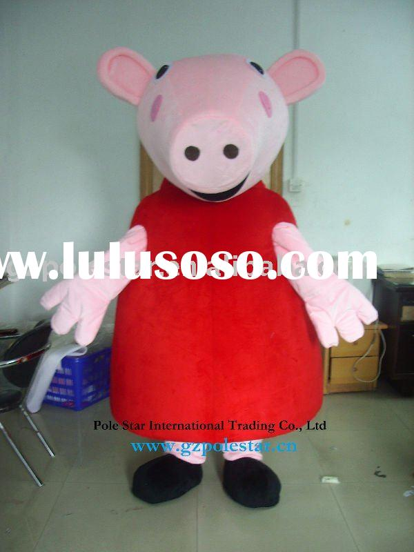 Peppa Pig Mascot Costumes/Peppa Pig Fur Cartoon Costume