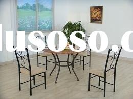 Metal dining room sets / Wood and steel dining sets / Metal table and chairs