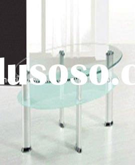 oval tempered  glass coffee table  CT-4018