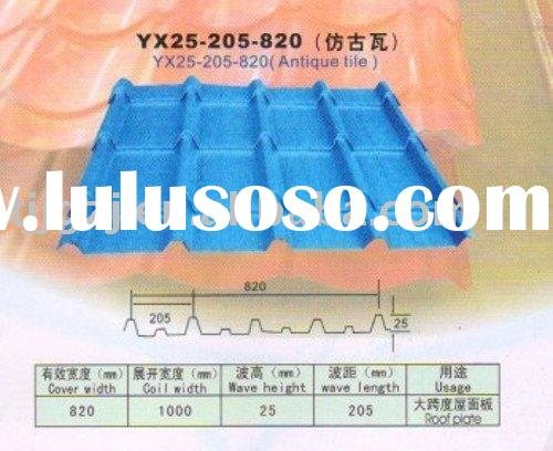 Galvanized color coated metal tile roof