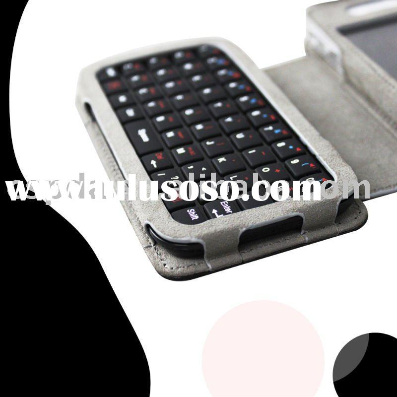 PDA cell phone leather keyboard cases for iphone 4