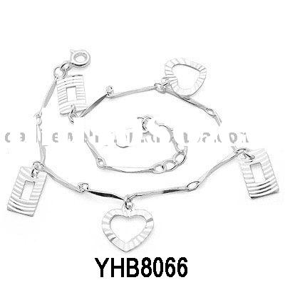 925 sterling silver bracelet/gemstnone jewelry/beautiful bracelet/charm bracelet(YHB8066)