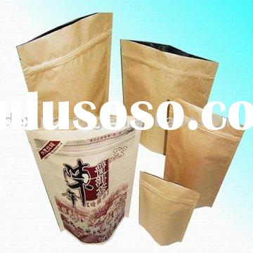 Tea bag/foil paper laminated/stand up pouch with zipper