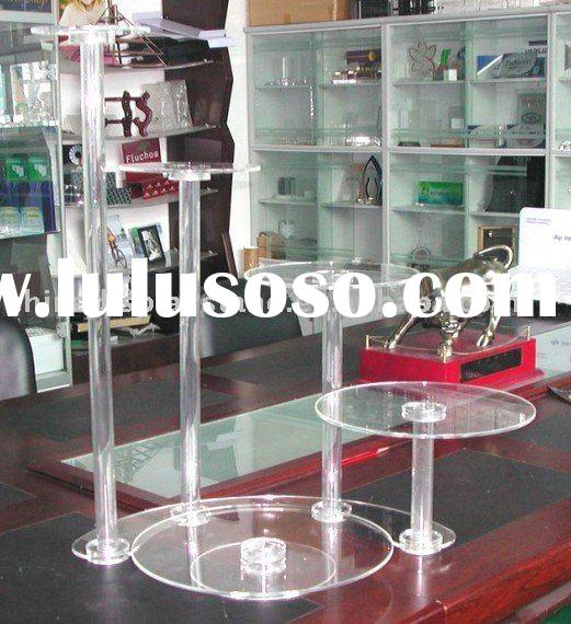 acrylic wedding cake display stands,acrylic cake display stands