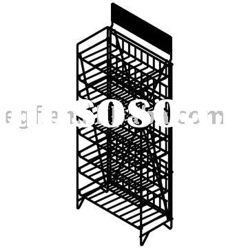 8 Tier Collapsible Metal Potato Chip Merchandising Display Rack Stand