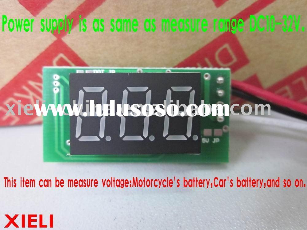 vehicle instrument (Major use in Audio of car)  display 999 (3digit) power supply DC12V measuring DC