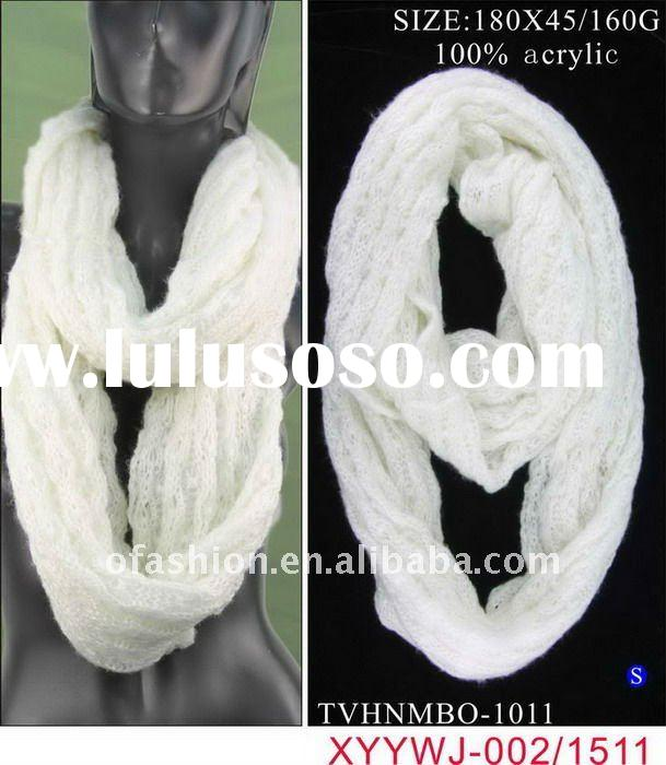 Classic Winter Solid Color Round Neck Knitting Scarf
