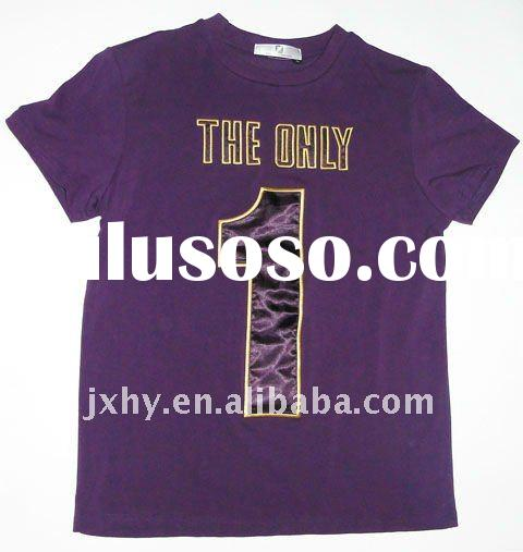 "fashion men T-shirt printed ""the only 1"" words"