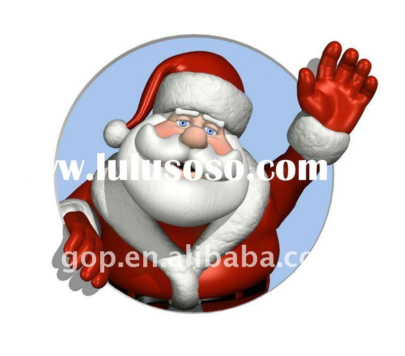 oil painting hand painted of Santa Claus on canvas for Christmas Day decoration