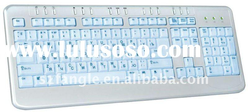wired super slim lighting multimedia keyboard AT-EL19M