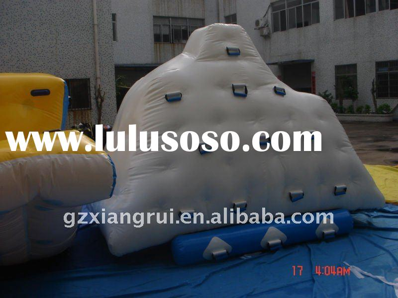 Inflatable water floating iceberg climbing