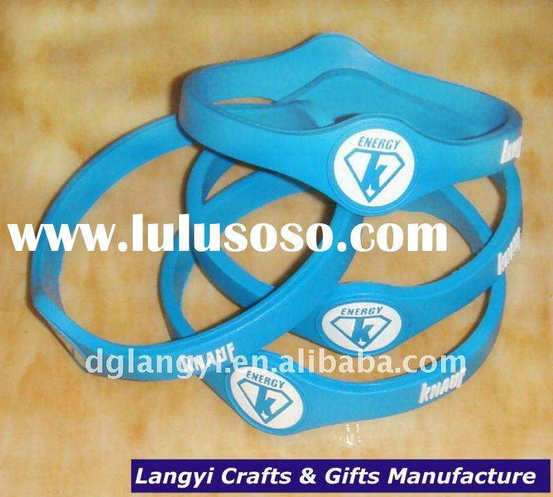 Custom Power Balance Band Bracelet with hologram stickers