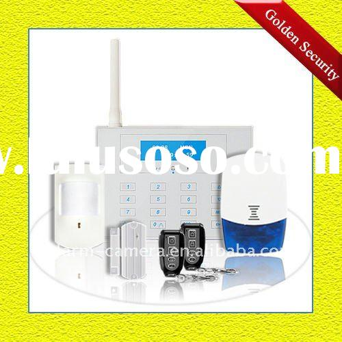 Landline alarm system with touch keypad and LCD display