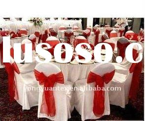 red organza chair sash/wedding chair bow/organza chair cover sash