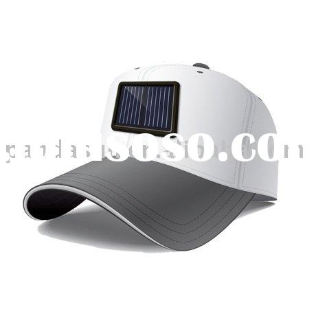 Solar hat charger for mobile phone