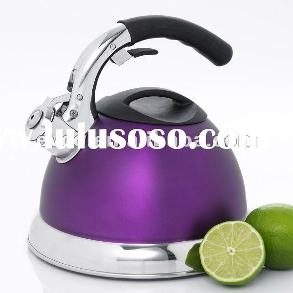 Avalon 3.0 Qt. Stainless Steel Whistling Tea Kettle - Opaque Purple