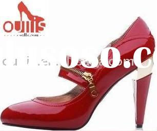 Fashion women red dress shoes from guangzhou 854