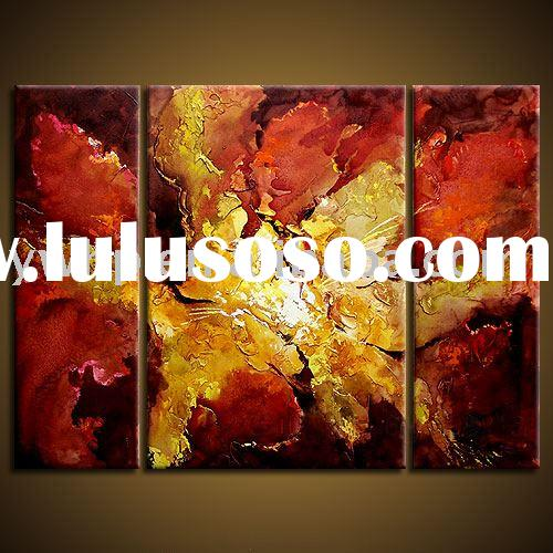 Flower canvas painting,modern abstract painting,group oil painting on canvas,home decoration